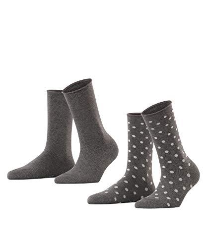 ESPRIT Damen Dot 2-Pack W SO Socken, Grau (Anthracite Melange 3081), 39-42 (2er Pack)