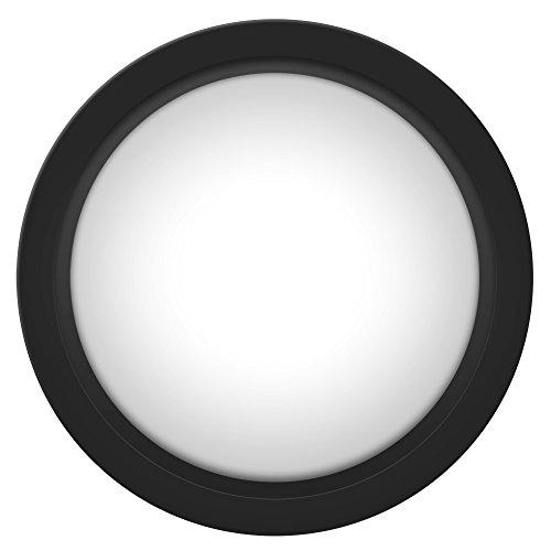 WAL - Botón de Arcade LED Frontal (100 mm, con Consola de convexidad LED, Repuesto + microswitch + Soporte de botón, 12 V CC, 140 g)