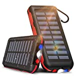 Solar Power Bank Portable Phone Charger 25000mAh【2020 Newest Solar Charger】Battery Pack Water-Resistant 3