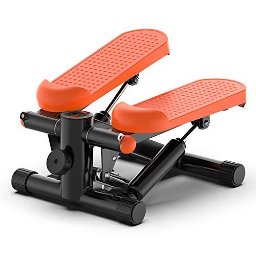 Mini Exercise Cross Trainer, 2-in-1-Fitness-Stepper mit Netzkabel, Fuß-Trainingsgerät, für Übungen im Büro und zu Hause (orange & schwarz)