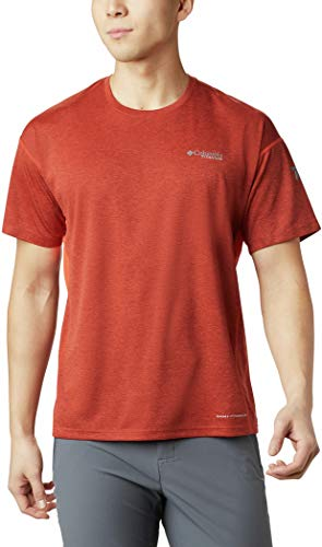 Columbia Irico Knit Short Sleeve Crew T-Shirt Homme, Wildfire, FR : S (Taille Fabricant : S)