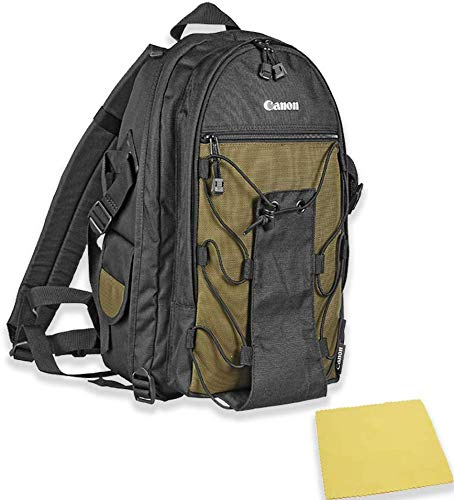 Canon Deluxe Photo Backpack 200EG for Canon EOS SLR Cameras for EOS 7D, 77D, 80D, 5D Mark II III IV, Rebel T6, T6i, T6s, T7i, SL2 and EOS M Cameras