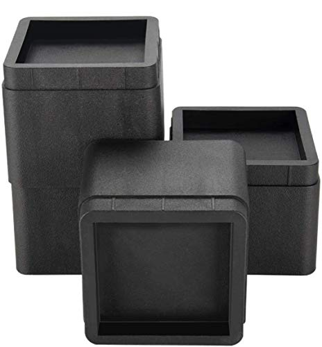 Iriisy Stackable Bed and Furniture Risers 3 Inch Heavy Duty...