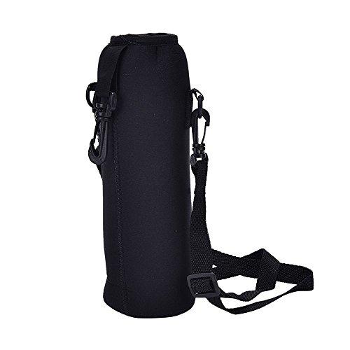 SIRIGOGO Bolsa térmica aislante, bolsa de agua para deportes al aire libre con correa ajustable para el hombro – Bolsa para botella de agua militar táctica para acampar, senderismo, correr