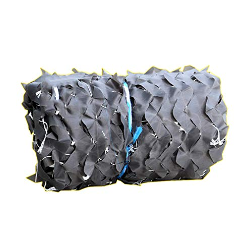 Filet de Camouflage en Tissu Oxford en Polyester 210D Camouflage Net Gris,Toile D'ombrage de Protection de Vie Privée,pour Décoration de Fête,Photographie,Militaire (3x5m/9.8x16.4ft)