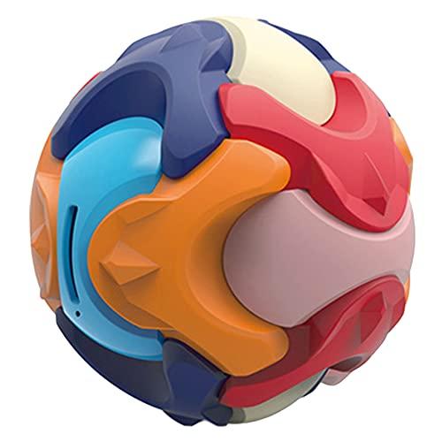 ZHDXW Juguetes educativos para niños Juegos para niños Bola Juegos de Aprendizaje Juegos de Ensamblaje Juguetes Inteligencia Niño Ahorros Bola Hucha, Color