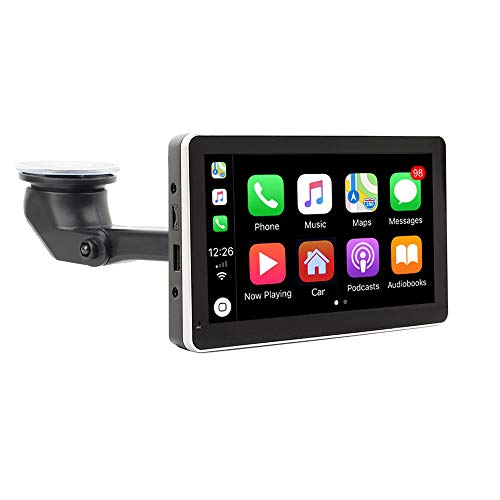 "Road Top Más Nuevo Inalámbrico Apple Carplay Cableado Android Auto Car Multimedia Player, 7""LCD Pantalla táctil Monitor Bluetooth Navigation System (Real Plug and Play Device)"
