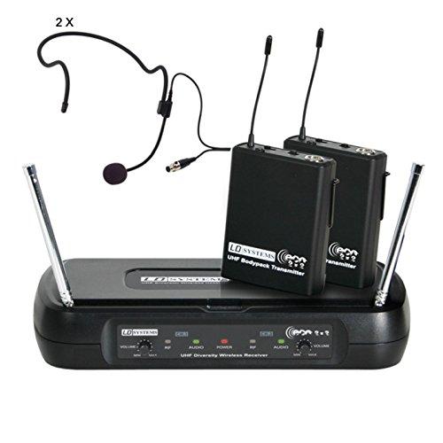 LD Systems LDWSECO2X2BPH1 - Micrófono inalámbrico (2 canales, de auricular)
