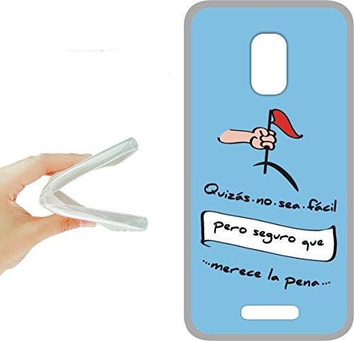Wiko U Feel lite - funda gel tpu con dibujo frases molones, ref:272