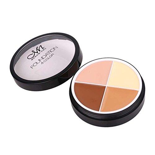 Toygogo 4 Couleurs Cosmétiques Correcteur Et Contour Correct Palette Set Beauté Maquillage Visage Doux Poudre Crème Peaux Sombres Surligneur Correcteur Kit - # 2