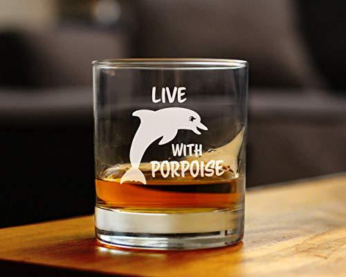 Weinglas - Live with Porpoise Upgrade Schnitzen Obst Glas Good Handheld Persönlichkeit Dekoration