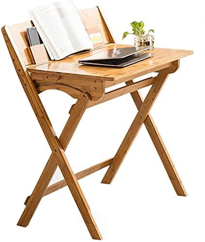 Escritorio de pie para computadora pequeña, plegable, sin montaje, escritorio de PC, moderno y pequeño, escritorio de escritorio para computadora en casa, oficina, escritorio