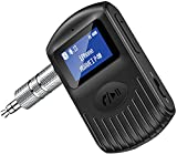 Cocoda Receptor Bluetooth Audio con Pantalla LCD, Adaptador Bluetooth Coche Bluetooth 5.0 para Automóvil /Auriculares con Cable, Conexión Dual, Cancelación de Ruido, Llamadas con Función Manos Libres
