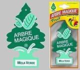 Arbre Magique Deodorante per Auto, Profumazione Prolungata fino a 7 Settimane (3 PEZZI, MELA VERDE)