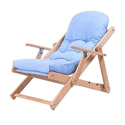 JCM Fauteuil inclinable chaise en bois massif fauteuil inclinable simple chaise paresseuse canapé chaise de balcon ZJ
