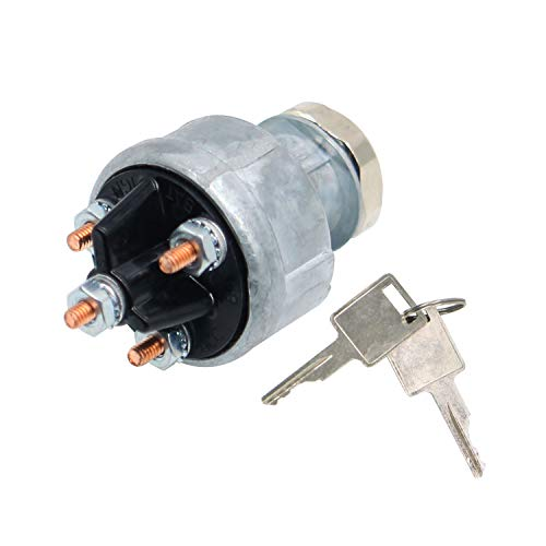 Weelparz 641833 MG641833 Interruptor de Encendido Interruptor Giratorio para Ne w Hollan d Cargadora de L120 L125 L140 L150 L160 L170 L175 L180 L185 L190 Haytools 1068 1069 1075 1078 107