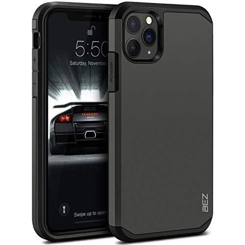 BEZ Cover iPhone 11 Pro, Custodia per iPhone 11 Pro Rigida Protettiva con Impact [Antiurto, Assorbimento-Urto] Bumper Protezione da Cadute e Urti Posteriore, Grigio