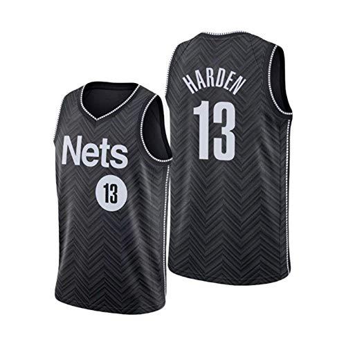DWQ 20-21 Temporada Azul Net Team # 13 Harden Basketball Jersey, Swing Transpirable Swing Men's Jersey Fan Sports No Sleep T-Shirt Versión de Prensa Hot (S-XXL) M
