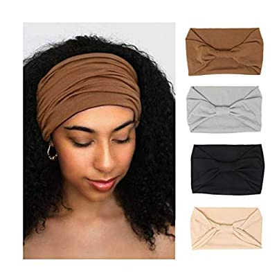 4 Pack Wide Headbands