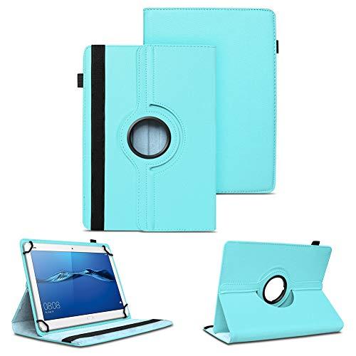 NAUC Tablet Hülle kompatibel für Huawei MediaPad T1 T2 T3 T5 10 Tasche Schutzhülle Schutzcase Cover 360° Drehbar Hülle, Farben:Türkis