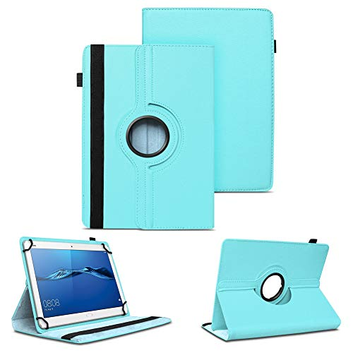 NAUC Tablet Tasche kompatibel für Huawei Mediapad X2 Hülle Schutzhülle Cover Schutz Hülle Drehbar, Farben:Türkis