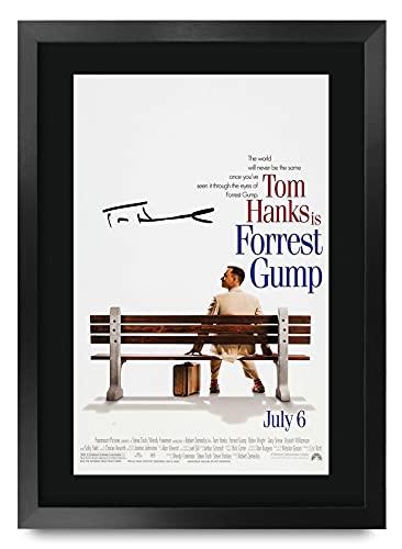 HWC Trading Forrest Gump A3 Encadré Signé Image Autographe Imprimé Impression Photo Cadeau D'Affichage pour Tom Hanks Les Amateurs De Cinéma