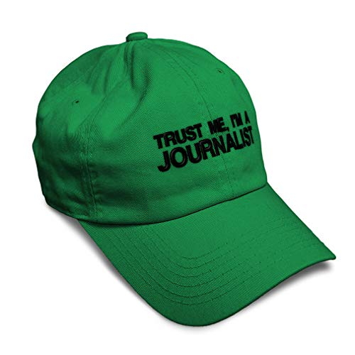 Speedy Pros Soft Baseball Cap Trust Me, I'm A Journalist Embroidery Cotton Dad Hats for Men & Women Flat Solid Buckle Kelly Green One Size