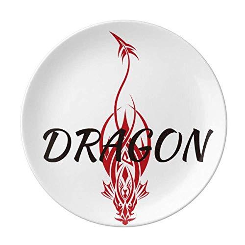 Animal Myth Dragon's Eastern Western Wings Teller Dekorative Porzellan Salver Geschirr Dinner Dish