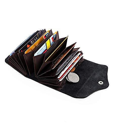 Hongyantech Hardware DE Tarjetas DE CREDITO RFID Protection Portatarjetas de Viaje Wallet para Hombres y Mujeres