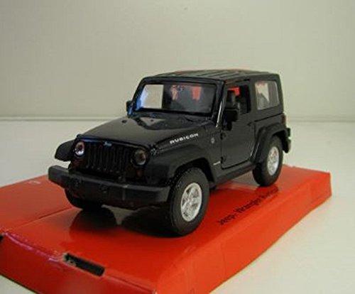 Welly DieCast metall Modellauto 1:36-39 Jeep Wrangler Rubicon schwarz neu und box