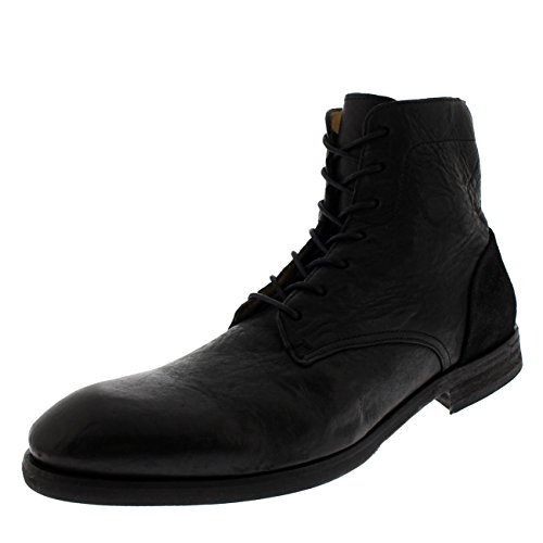 H By Hudson Mens Yoakley Calf Leather Smart Office Suit Work Chukka Boot - Black - 12