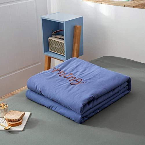 WLD Summer Air-Conditioning Quilt Quilt Die Summer All Cotton Air Conditioner wird von Summer-150 * 200Cm_Plum Color gesteppt,Blau,220 * 240 cm