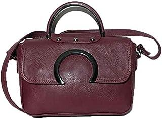 حقيبة للنساء-احمر انبيذي - حقائب بمقبض علوي