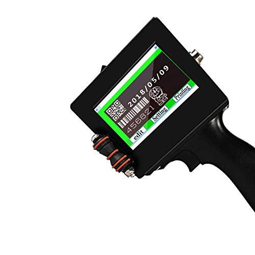 Poche Pistolet étiquetage des Prix, la Date de Production écran Tactile Intelligente de l'imprimante à Jet d'encre portatif Petite buse Motif Code QR Code à Barres Cartouche Cadeau imprimante