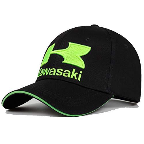 BAJSKD Frühling Und Sommer Baseballmütze Kawasaki Stickerei Baseballmütze Hip Hop 100% Baumwolle Hut Im Freien Männer Und Frauen Sonnenhüte Hysteresenkappen
