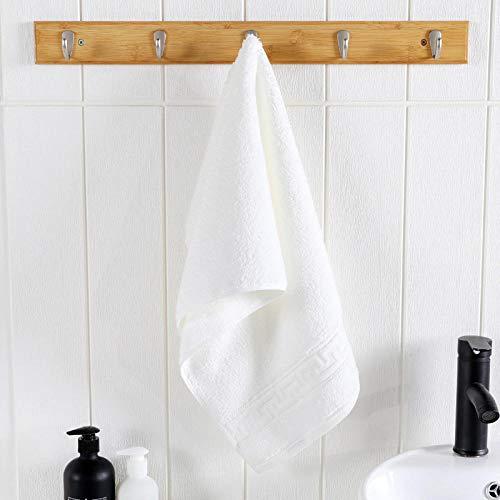XINDUO Adecuado para baños hoteles Toalla,Toalla de algodón Grueso súper Absorbente 3pcs-White_36 * 76,Toallas faciales de Franela de algodón