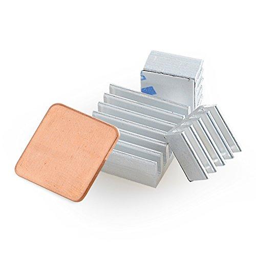 Aukru - Disipador de Calor para Raspberry Pi (Aluminio, 3