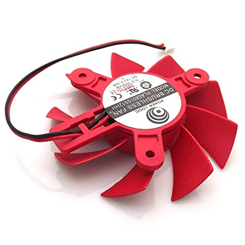 DC BRUSHLESS FAN PLA08015S12HH 12V 0.35A 75mm 47x47x47mm VGA Fan For XFX HD5750 Graphics Card Cooling Fan 2Wire