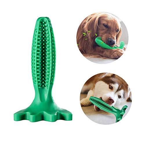 Grneric Cepillos de Dientes para Perros, Caucho Juguetes Perro Masticar, Dog Toothbrush Palo, Limpieza de higiene Dental Cuidado Oral para Mascotas (Verde)