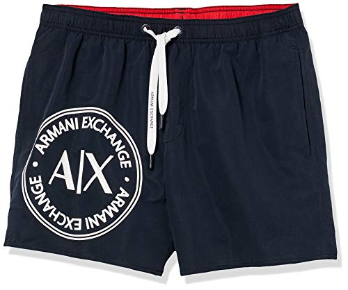 Armani Exchange 1st To Be Noticed Bañador, Azul (Navy - Blue Navy 00136), XX-Large para Hombre