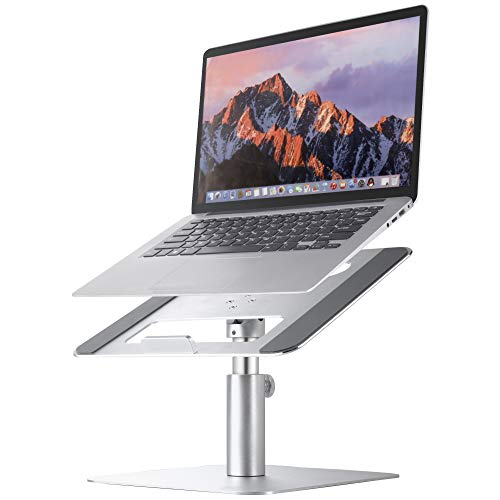 Adjustable Laptop Stand MOOJAY Rotatable Laptop Riser, Suitable for 11-17.3 Inch Laptop, Aluminum Laptop Stand for Desk,  Ergonomics Notebook Stand for MacBook, HP, Dell, Lenovo|Silver