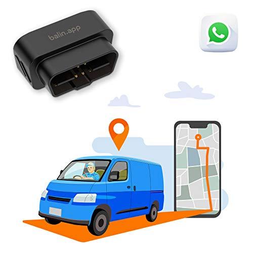 Balin.app - Mini Localizzatore GPS professionale per veicoli, con SIM card e traffico dati, tutto incluso. Installazione rapida con presa OBD del veicolo. Monitora i veicoli da Portale Web e App.