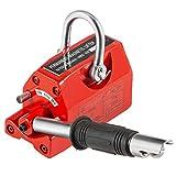 VEVOR Sollevatore Magnetico, 220 libbre/100 kg Magnete di Sollevamento in Ferro al Neodimio, Controllata Sollevamento Magnete in Rosso, Magneti Permanenti Sollevatore Elevatore con Chiave Esagonale