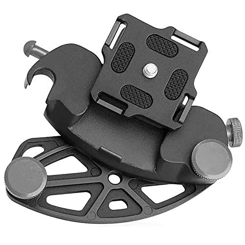 Yeelan Clip per fotocamera, supporto per fotocamera, in lega di alluminio, con viti da 1/4 in per sgancio rapido