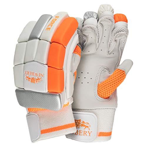 Newbery Cricket Force Batting Gloves, White/Orange, Small Junior