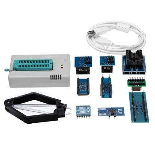 Vogueing Tool Programador TL866II Plus con 10 adaptadores de flash de alto rendimiento, programador USB EEPROM Flash BIOS 15000+ soporte universal