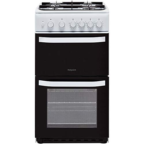 Hotpoint HD5G00KCW 50cm Double Cavity Gas Cooker - White