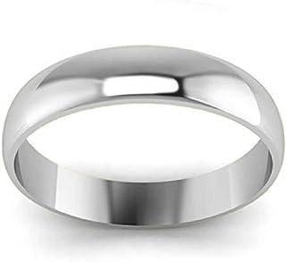 S T O N E O R A Unisex 5mm 925 Sterling Silver Ring Jewelry for Men Women Mirror Polished, Comfort fit, High Polish Plain ...