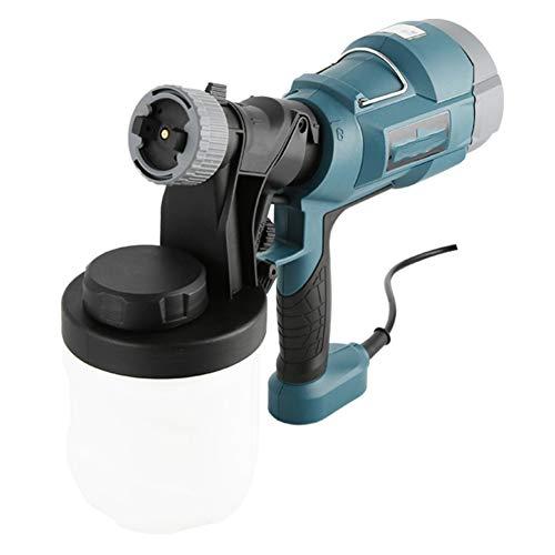 WEZER OTY elektrisch verfspuitpistool, uitgerust met 2 mm koperen mondstuk en een gieter van 0,9 l is de muur ideaal