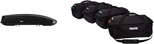 Thule Force XT Rooftop Cargo Box, XX-Large with Thule Gopack Duffel Set (4 Pack), Black